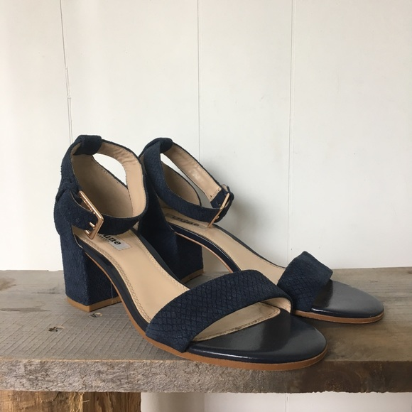 d846a0807c6f Dune Shoes - Dune London Blue suede Jaygo block heel sandal